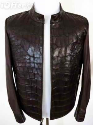 fredo-ferrucci-crocodile-alligator-jacket-mink-fur-new-f1fc